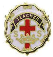Teacher Cross and Crowns One Year Pin