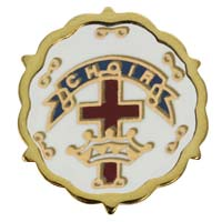 Choir Cross and Crown One Year Pin