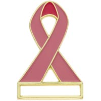 Breast Cancer Name Badge Pin