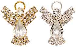 Silver or Gold Angel Rhinestone Pin