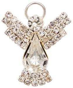 Silver or Gold Angel Rhinestone Pin