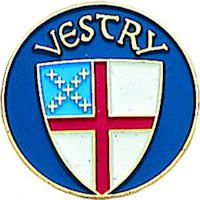 Episcopal Vestry Lapel Pin  Blue