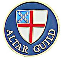 Episcopal Altar Guild Lapel Pin Gold Blue