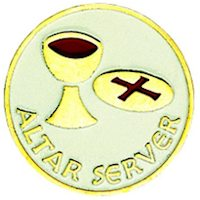 Altar Server Lapel Pin with Cup and Host