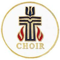 Presbyterian Church Choir Pin Gold