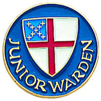 Episcopal Junior Warden Pin blue