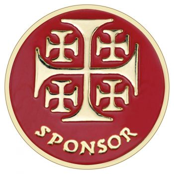 Sponsor Lapel Pin on Cross