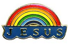 Jesus Rainbow Pin