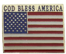 God Bless America, USA Flag Pin