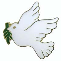 White Dove Olive Branch Pin