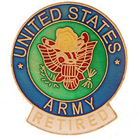 United States Army Retired Pin