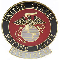 US Marine Corps Retired Pin