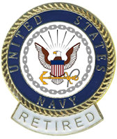 United States Navy Pin Retired