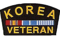 Korean War Veteran Ribbon Pin  Metal