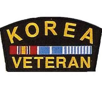 Korean War Veteran Ribbon Pin  Metal