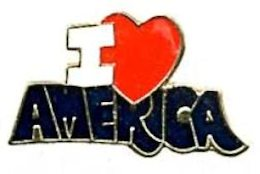 I Love America Hat Pin or Lapel Pin
