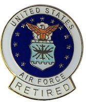 US Air Force Retired Pin