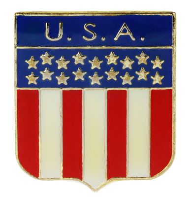 USA Flag Shield Lapel Pin