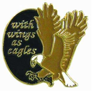 With Wings as Eagles Pin