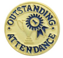 Outstanding Attendance Gold Pin