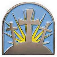 8040 Lenten Cross Lapel Pin Black Nickel Easter
