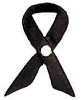 Black Memorial Ribbon Pin with Rhinestone