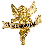In Memoriam Gold Angel Pin