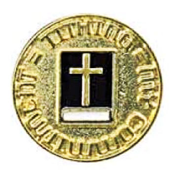 Tithing = My Christian Commitment Gold Pin