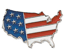 United States Flag Map Print Pins