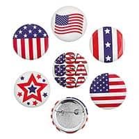 USA Patriotic Buttons (Pkg of 24)
