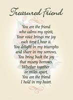 Treasured Friend Prayer Card
