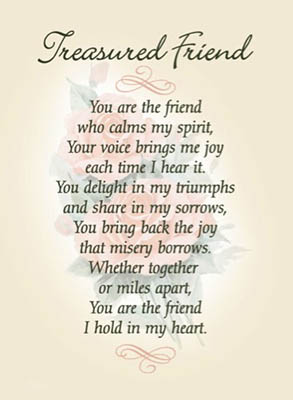 Treasured friend prayer gift sentiment card treasured friend prayer gift card thecheapjerseys Gallery
