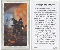Firefighters Prayer Holy Card