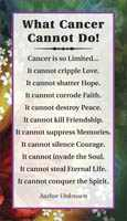 What Cancer Cannot Do Pocket Card