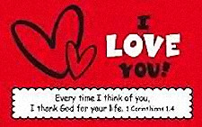 I Love You Pass-Around Friendship Cards (Pkg of 25)