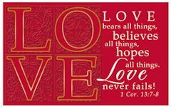 Love Never Fails Pass-around Cards (Pkg of 25)