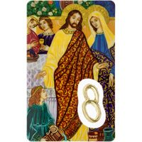 Love Keepsake Laminated Prayer Card with Medal