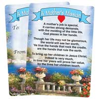 A Mother's Mission Prayer Pocket Card