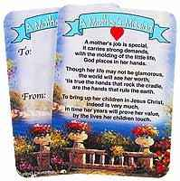 Mother's Mission Prayer Pocket Card Mother's Day
