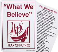 What We Believe Catholic Year of Faith Pocket Cards