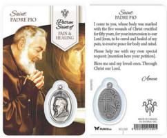 Pain, Healing Prayer St. Pio Card & Medal