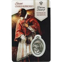 Healing St. Charles Borromeo Prayer Card with Medal