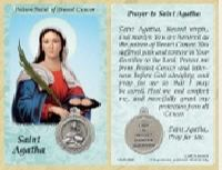St. Agatha Breast Cancer Prayer Card & Medal