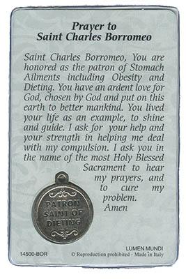 St. Charles Borromeo Prayer Card Back