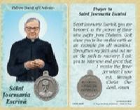 St. Josemaria Escriva - Diabetes Prayer Card, Medal