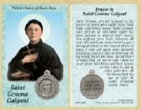 St. Gemma Galgani - Back Pain Prayer Card w Medal