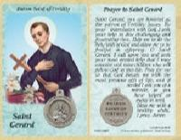 St. Gerard - Fertility Prayer Card w Medal