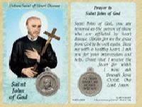 St. John of God - Heart Disease Prayer Card w Medal