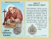 St. Alphonsus Ligouri - Arthritis Prayer Card with Medal