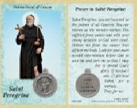 St. Peregrine (Cancer) Prayer Card with Medal